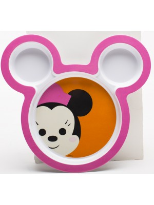 Zak! Designs Big Face Minnie Bord - 21,5 cm - Blauw