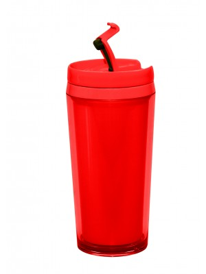 Zak!Designs - Hot Beverage Drinkbeker - Dubbelwandig - Rood