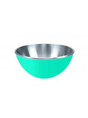 Zak!Designs Gemini Serveerschaal - Dubbelwandig - Rvs - Ø 25 cm - Aqua blauw