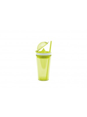 Zak!Designs On The Go Citruspers Drinkbeker - Dubbelwandig - Incl. Rietje  50 cl - Groen
