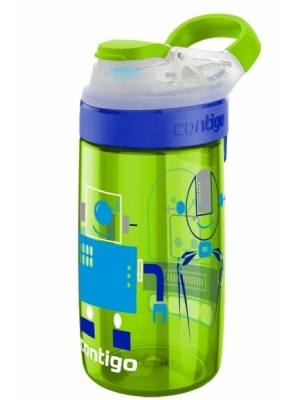 Contigo Drinkbeker Kids Gizmo Flip Autospout 420 ml - Chartreuse robots - groen