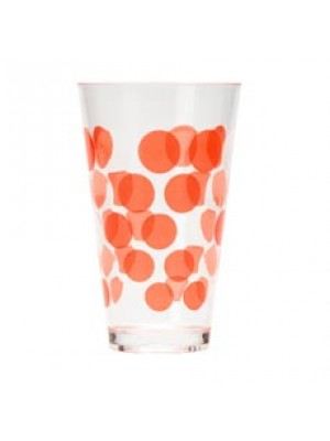 Zak! Designs Dot Dot Drinkbeker 30 cl - Rood