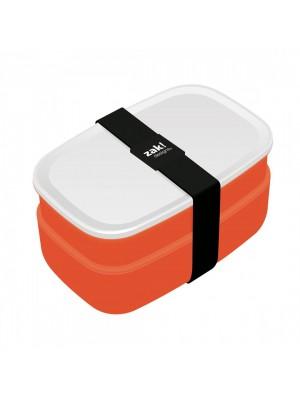 Zak!Designs Lunchbox - Incl. bestekset - Coral/Wit