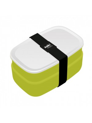 Zak!Designs Lunchbox - Incl. bestekset - Groen/Wit