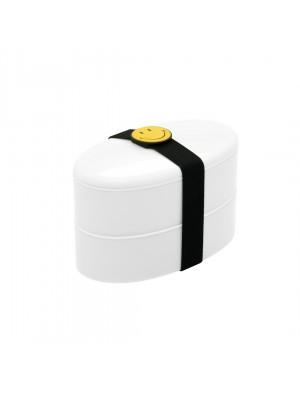 Zak!Designs Smiley Lunchbox - Incl. bestekset - Wit