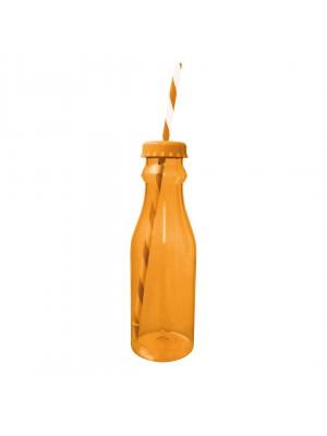 Zak!Designs Soda - Waterfles met Rietje 70 cl - Coral