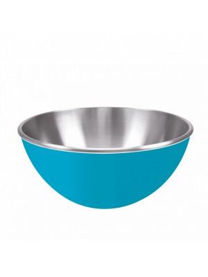Zak!Designs Gemini Serveerschaal - Dubbelwandig - Rvs - Ø 20 cm - Aqua blauw