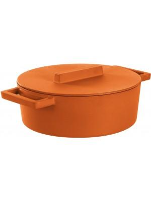 Sambonet Braadpan Gietijzer Ovaal met deksel 30x25 cm - Curry