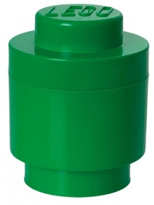 Lego opbergbox brick 1 Rond - Donker Groen