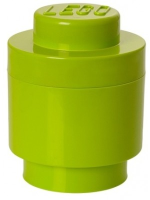 Lego opbergbox brick 1 Rond - Lime groen