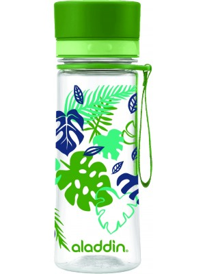 Aladdin Aveo Waterfles 0,35 liter met print - Groen