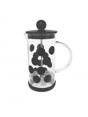 Zak!Designs DotDot Cafetière Borosilicaatglas Incl. Anti-slip Bodem 350 ml - Zwart