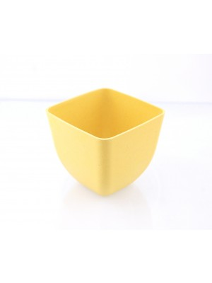 Bamboe Design Serveerschaaltjes, set van 3 stuks - geel
