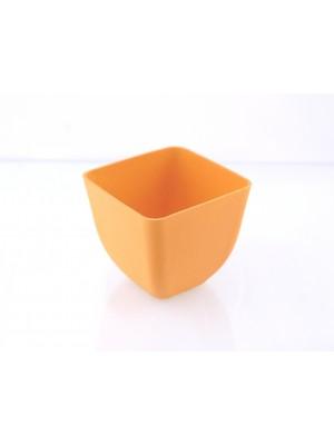 Bamboe Design Serveerschaaltjes, set van 3 stuks - warm geel