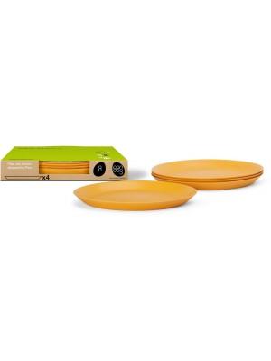 Bamboe Design Ontbijtbord set van 4 stuks - Indian Curry