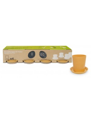 Bamboe Design Espressoset van 8 stuks - Indian curry