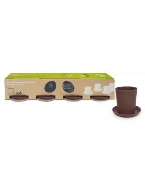 Bamboe Design Espressoset van 8 stuks - bruin