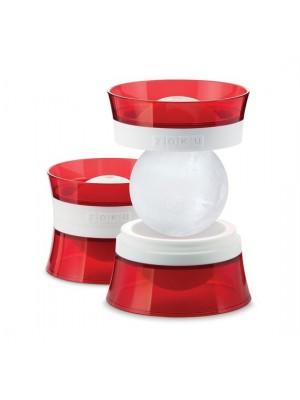 Zoku IJsbalmaker voor glas set van twee Rood