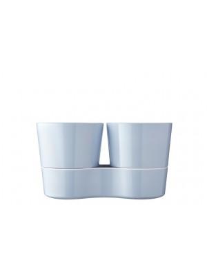 Mepal Kruidenpot Twin- Nordic Blue