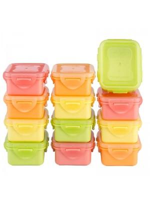 Lock & Lock Vershouddozen Multicolor Soft HPL805 Set van 12 Stuks