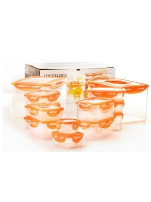 Lock & Lock Vershouddozen Oranje Set van 16 Stuks
