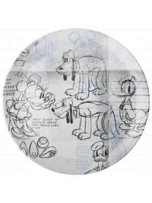 Zak!Designs Disney Classic Gang dinerbord 25,5 cm - Zwart