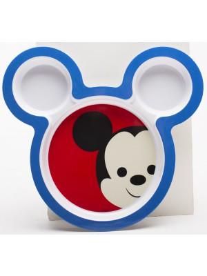 Zak! Designs Big Face Mickey Bord - 21,5 cm - Blauw
