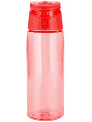 Zak!Designs Sport Drinkbeker - Incl. draagring - 75 cl - Rood/transparant