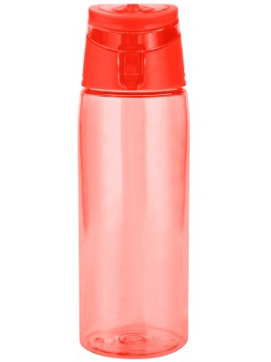 Zak!Designs Sport Drinkbeker - Incl. draagring - 75 cl - Coral/transparant