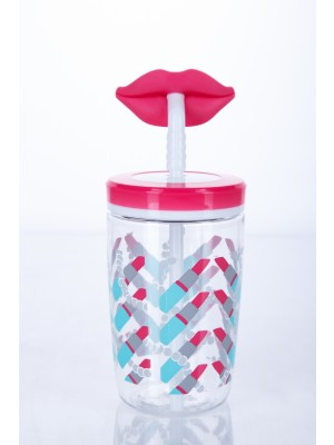 Contigo Drinkbeker Kids Funny Straw - Cherry blossom Lips