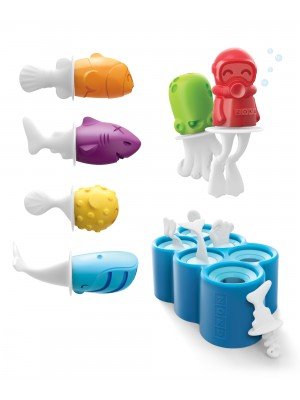 Zoku Icelolly Pop Maker Fish, Set van 6 stuks