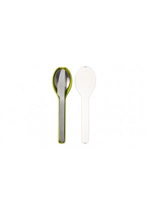 Mepal Bestekset 3-delig Ellipse - Lime (lichtgroen)