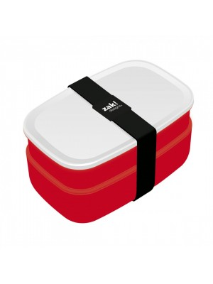 Zak!Designs Lunchbox - Incl. bestekset - Rood/Wit