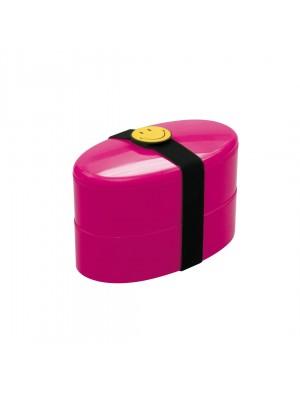 Zak!Designs Smiley Lunchbox - Incl. bestekset - Framboos