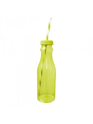 Zak!Designs Soda - Waterfles met Rietje 70 cl - Groen