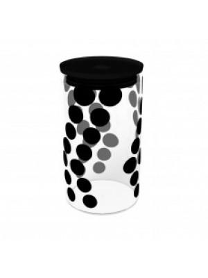 Zak!Designs Dotdot Voorraadpot Glas L 1,1 Liter - Zwart