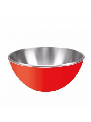 Zak!Designs Gemini Serveerschaal - Dubbelwandig - Rvs - Ø 25 cm - Rood