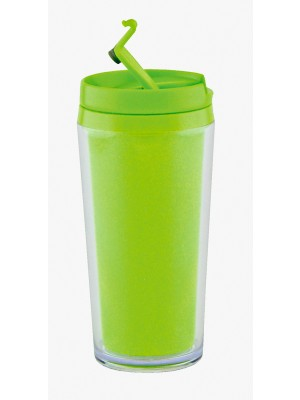 Zak!Designs - Hot Beverage Drinkbeker - Dubbelwandig - Lime groen