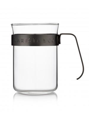 Barista & Co Barista Koffiebeker Glas Set van 2 stuks - Gunmetal