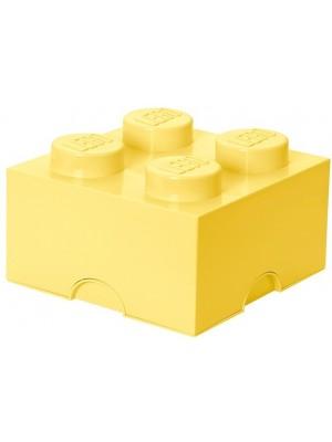 Lego opbergbox brick 4 - Licht Geel