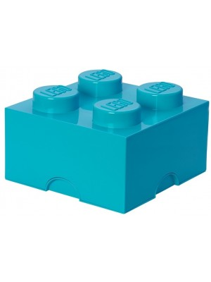 Lego opbergbox brick 4 - Turquiose