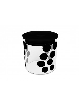Zak!Designs Dotdot Voorraadpot Glas M 0.65 Liter - Zwart
