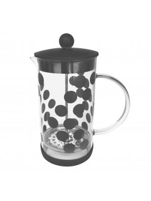 Zak!Designs DotDot Cafetière Borosilicaatglas Incl. Anti-slip Bodem 1.0 Liter - Zwart