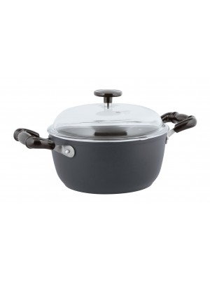 Sambonet Vintage Kookpan - Incl. Deksel - Aluminium - Ø20cm - Grijs