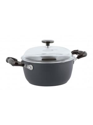 Sambonet Vintage Kookpan - Incl. Deksel - Aluminium - Ø24cm - Grijs