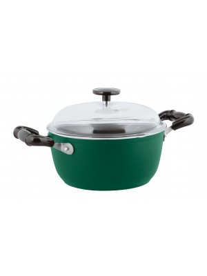 Sambonet Vintage Kookpan - Incl. Deksel - Aluminium - Ø24cm - Groen