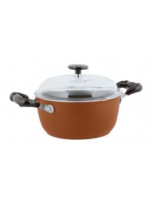 Sambonet Vintage Kookpan - Incl. Deksel - Aluminium - Ø24cm - Rood