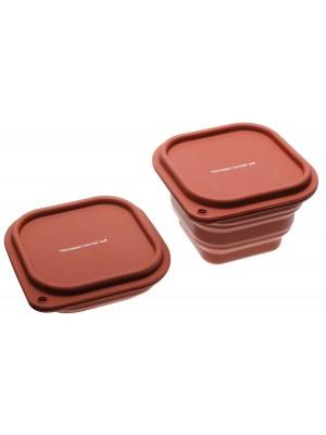 Sambonet Keukenhulp Siliconen Opvouwbare Opbergbox -rood