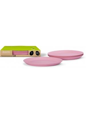 Bamboe Design Ontbijtbord set van 4 stuks - Roze