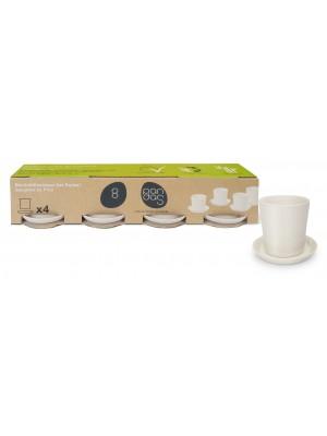 Bamboe Design Espressoset van 8 stuks - Wit